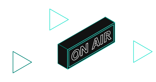 Shapes with 'On Air' text
