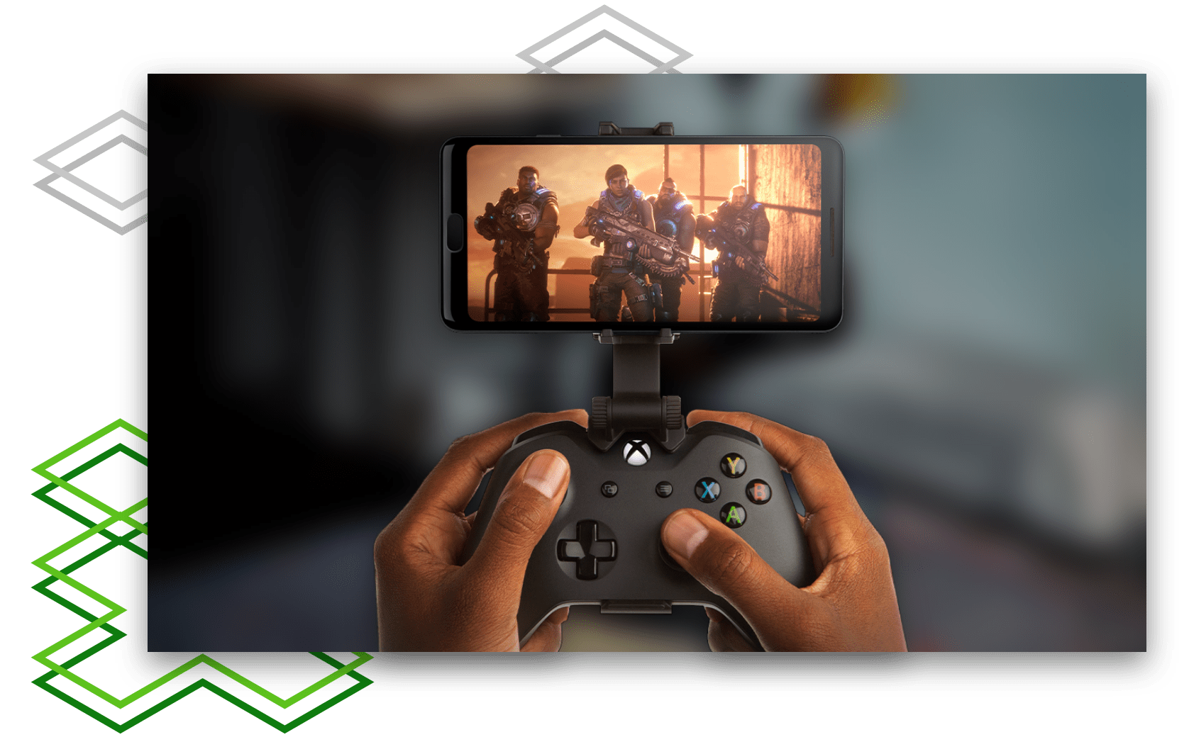 Playing Gears of War on a mobile device with an Xbox controller