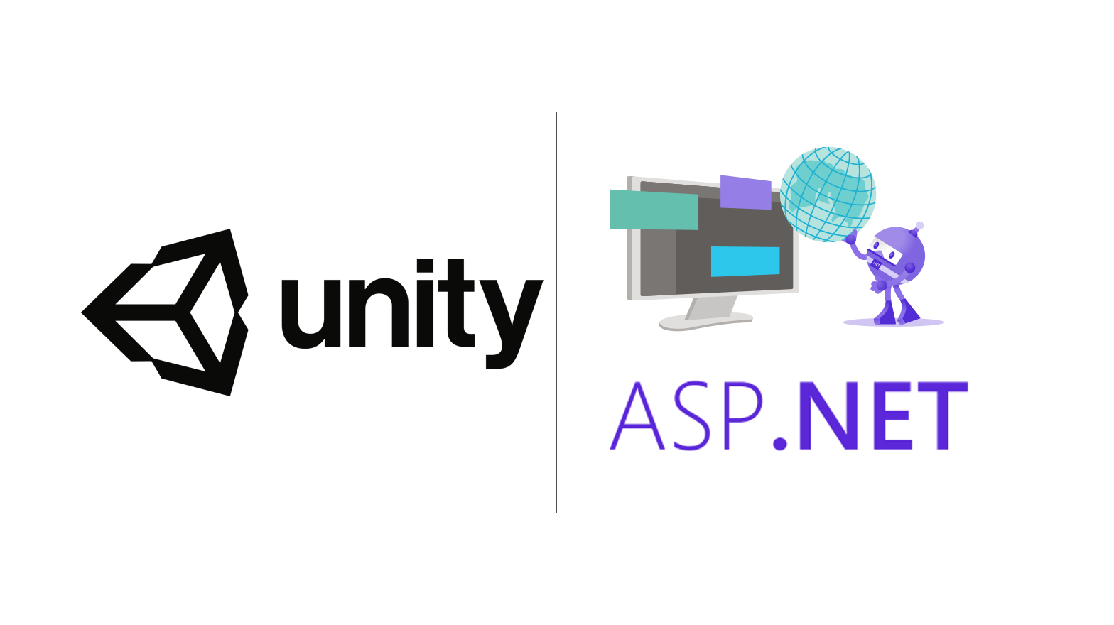 Unity logo and ASP.NET logo next to one another