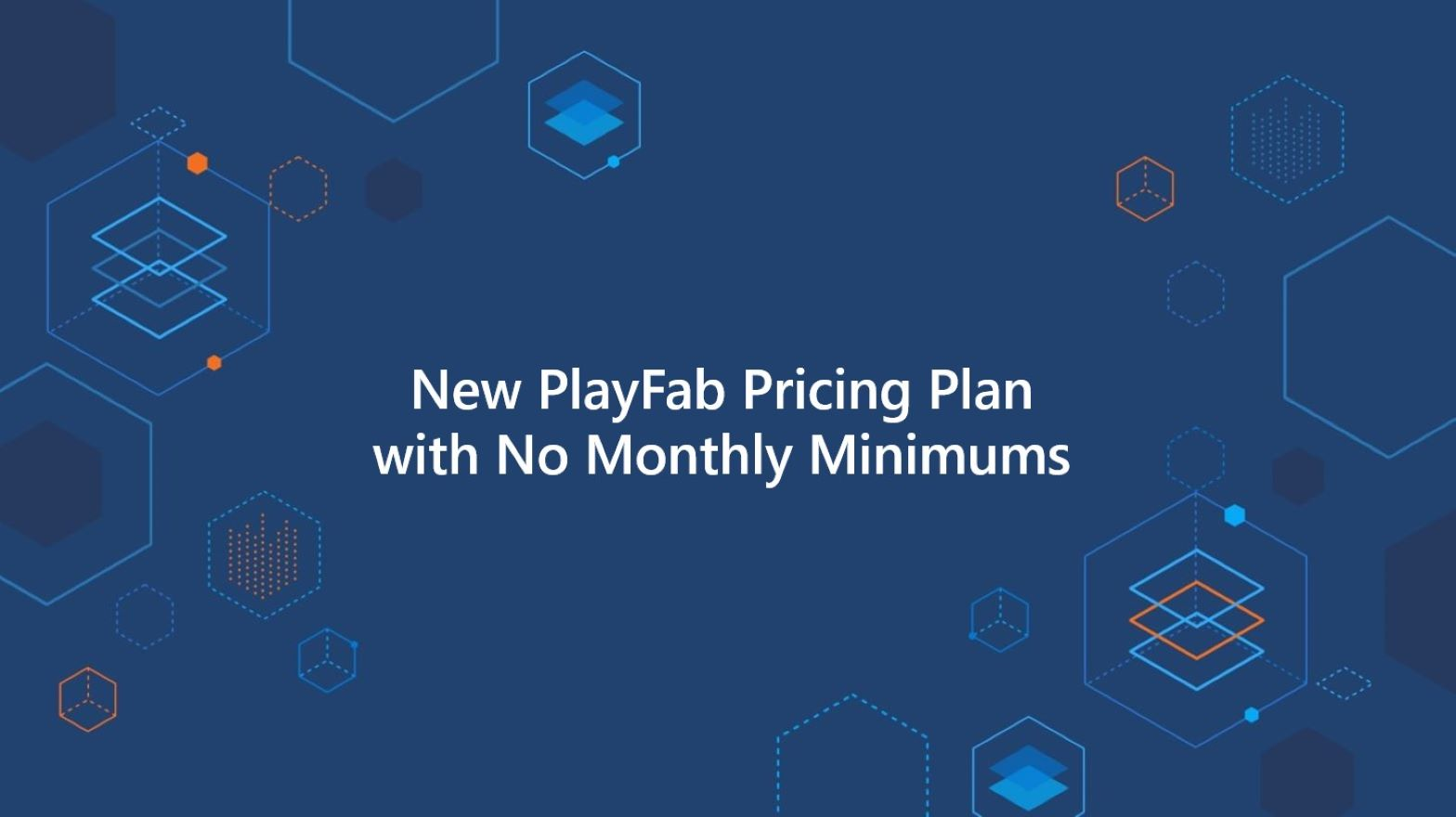 New Playfab pricing plan with no monthly minimums