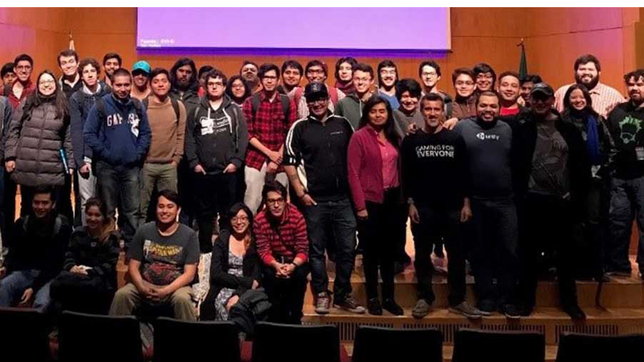 Group photo of Latinx Game Jam participants